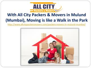 Packers and Movers in Mulund (Mumbai) - All City Packers and Movers�