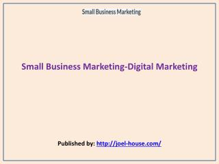 Small Business Marketing-Digital Marketing