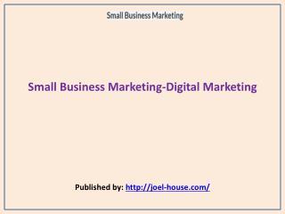 Small Business Marketing-Digital Marketing