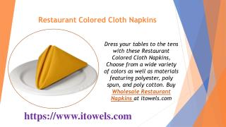Restaurant Colored Cloth Napkins