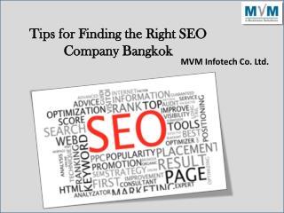 Tips for Finding the Right SEO Company Bangkok