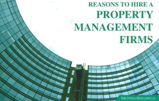 Why you should hire a property management firm