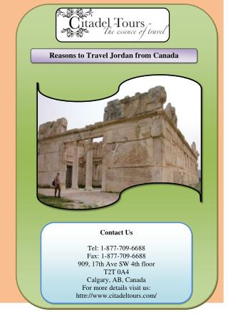 Reasons to Travel Jordan from Canada