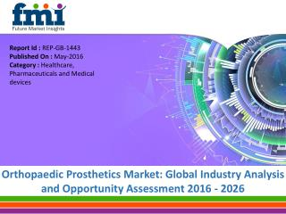 Orthopaedic Prosthetics Market worth US$ 1.62 Bn in 2015