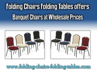 Folding Chairs Folding Tables offers Banquet Chairs at Wholesale Prices