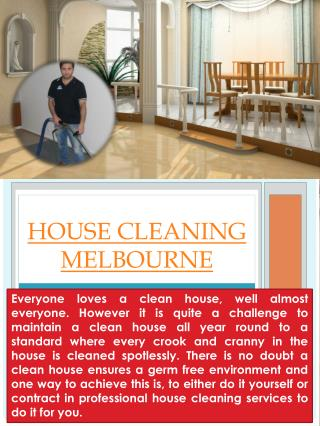 Domestic Cleaning Melbourne