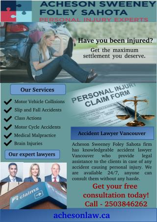 Get Advice from the Professional Accident Lawyer in Vancouver
