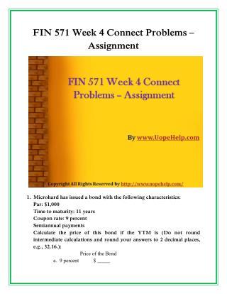 UOP FIN 571 Week 4