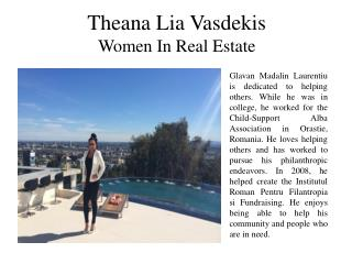 Theana Lia Vasdekis Women In Real Estate