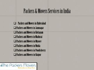 Reliable Packers and Movers in India