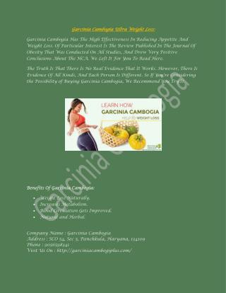 Garcinia Cambogia Ultra For Weight Loss | Garciniacambogiplus