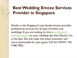 Best Wedding Emcee Services Provider in Singapore