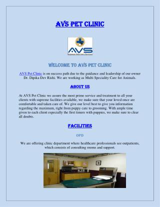 AVS Pet Clinic