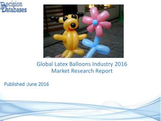 Latex Balloons Market Global Analysis and Forecasts 2021