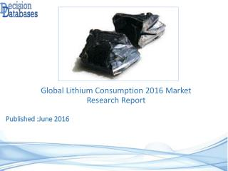 Lithium Consumption Market Analysis 2016 Development Trends