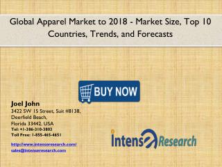 Global Apparel Market 2016: Industry Analysis, Market Size, Share, Growth and Forecast 2018