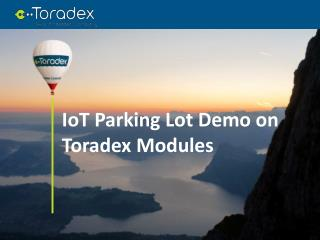 IoT Parking Lot Demo on Toradex Modules