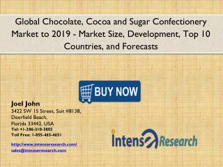 Global Chocolate, Cocoa and Sugar Confectionery Market 2016: Industry Analysis, Market Size, Share, Growth and Forecast