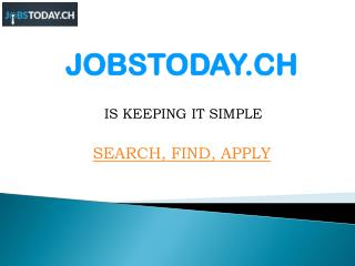 Finding the right Job with best Swiss Job Portal