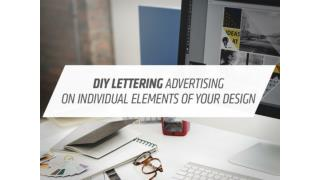 DIY Letter Ads on Individual Element to Your Design