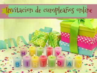 Invitacion de cumpleaños online