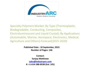 Specialty Polymers Market propelled by thriving consumer demand coupled with increased acquisitions and partnerships