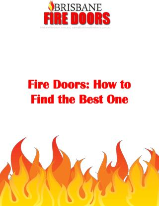 Fire Doors: How to Find the Best One