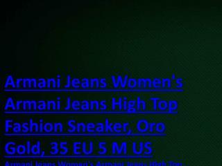 www jevej com USD US dollar $280.00 Armani Jeans Armani Jeans High Top Sneaker