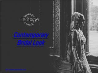 Contemporary Bridal Looks - Deepkala silk