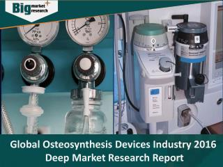 Osteosynthesis Devices Industry 2016 Deep Market Research Report