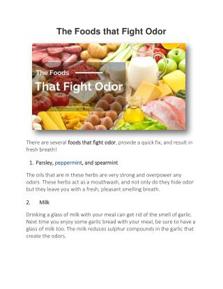 The Foods that Fight Odor | Ottawa Dental Care