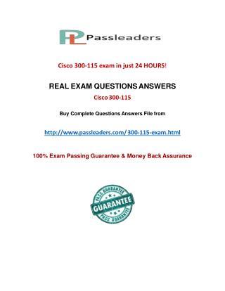 Passleader 300-115 Practice Questions