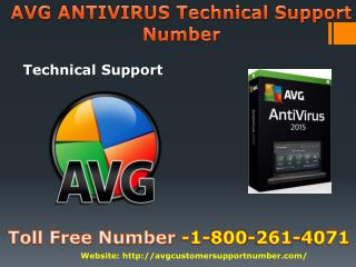 AVG Antivirus Technical Support Number -1-800-261-4071