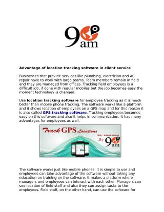 Gps tracking software, location tracking software