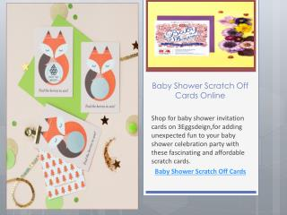 Baby Shower Scratch Off Cards Online