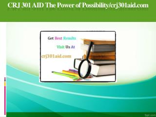 CRJ 301 AID The Power of Possibility/crj301aid.com