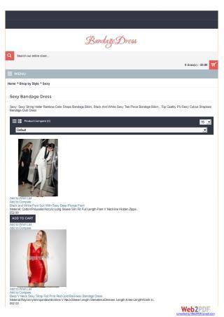 Sexy bandage dress online on bandagedress.co.uk