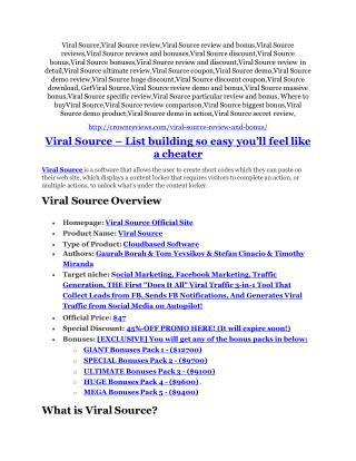 Viral Source Review - Viral Source  100 bonus items