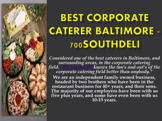 Best Corporate Caterer Baltimore