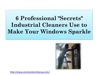 "6 Professional ""Secrets"" Industrial Cleaners Use to Make Your Windows Sparkle"