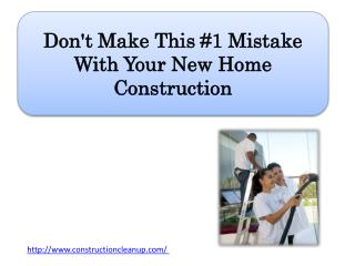 Don't Make This #1 Mistake With Your New Home Construction