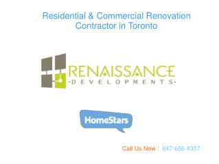 Residential  Renovation Contractor in Toronto