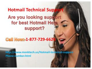 Contact Hotmail Technical Support Helpline Number 1-877-729-6626 toll free