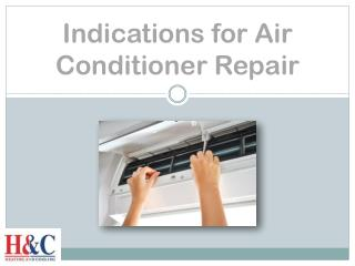 Indications for Air Conditioner Repair