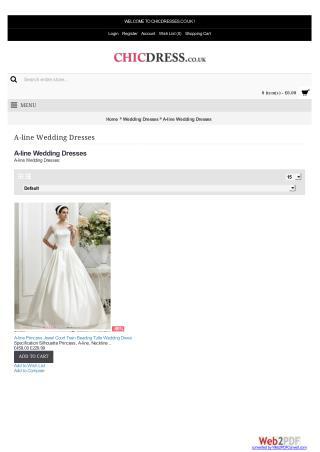 Buy 2016 Cheap A-line Wedding Dresses Uk