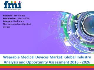 Wearable Medical Devices Market to expand at a CAGR of 6.9%, by 2026