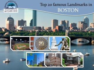 Most Popular Landmarks in Boston,Ma