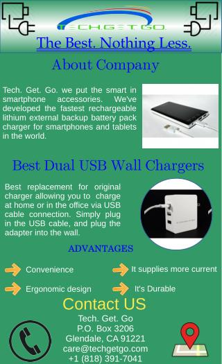 Best Dual USB Wall Chargers - Tech. Get. Go