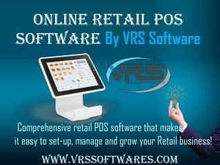Online Retail POS Software for big or small businesses Call  91-8286779827
