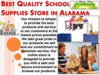 Best Quality School Supplies Store in Alabama